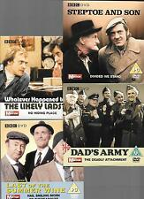 4 cardboard sleeves PROMO DVDs dads army steptoe likely lads last of the summer