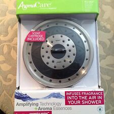 AROMACARE OXYGENICS CHROME RAIN SHOWER HEAD W/ SCENT CARTRIDGE NEW