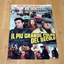 IL PIU' GRANDE COLPO DEL SECOLO manifesto poster affiche Margaret Lee Jean Gabin