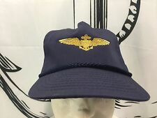 Air Force Pilot Wings Ball Cap embroidered Aviator Hat BLUE Nissin One Size