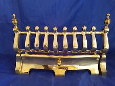Vintage Solid Brass Fire Grate Fender for Hearth - 2.3 kg