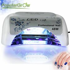 Populargrow 48W CCFL& LED Nail Lamp UV Gel Dryer Light Timer Nail Cure Mainchine