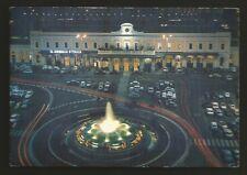 AD7396 Bari - Città - Notturno di Piazza Stazione - Insegna Il Giornale d'Italia