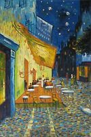 Van Gogh Cafe Terrace at Night Repro Quality Hand Painted Oil  Painting 24x36in