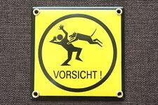 12 x 12 cm VORSICHT Hund, Warnung vor dem Hunde EMAILSCHILD Warnschild
