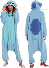 "Disney Lilo & Stitch ""STITCH"" Kigurumi Cosplay Costume Bodysuit Free Ship"