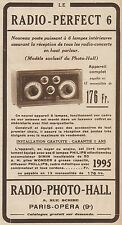 Y8567 Radio Perfect 6 - Radio Photo Hall - Pubblicità d'epoca - 1931 Old advert