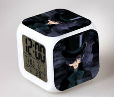 New Anime Black Butler Kuroshitsuji Alarm Clock LED Light Nightlight Accessories