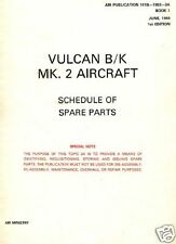 VULCAN BOMBER B.2 PARTS MANUAL RARE schematic details 1960's historic archive