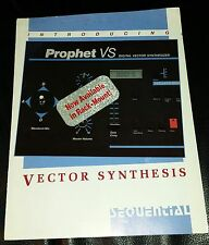 Prophet VS Vector Synthesizer Brochure, 4 page color, original.