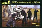 Caesar Miniatures 1/72 089 WWII German Anti-Aircraft (AA Gun) Crews (32 Figures)