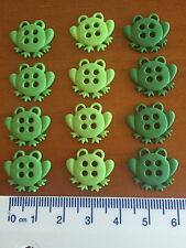Sew Thru Various shades of green frogs Novelty Dress It Up Buttons 6944