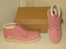 Timberland Nellie Pink Waterproof Leather Chukka Boots Shoes Womens 9.5