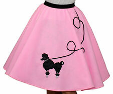 "Pink FELT 50s Poodle Skirt _ Adult Size MEDIUM _ Waist 30""- 37"" _ Length 25"""