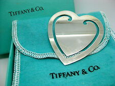 Tiffany & Co. 925 ~ VINTAGE HEART BOOKMARK ~ Sterling with Original Bag & Box
