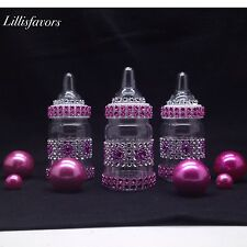 12 Fillable Baby Girl Shower Bottles Pink Party Favors