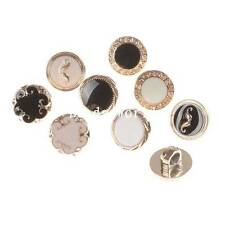 100 Pcs Mixed Rose Gold Enamel Resin Round Shank Buttons Scrapbooking 11mm