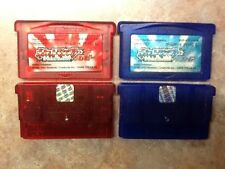 Pokemon Ruby & Sapphire Pocket Monsters (New Batteries In Both)GBA *USA Seller