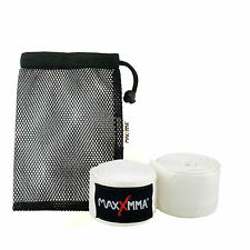 "MaxxMMA Hand Wraps 180"" (White) + Washable Mesh Bag, Boxing, MMA"