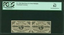 """1864-69 3 Cents Fractional Currency Fr-1226 Uncirculated Certified Pcgs New-62"""""""