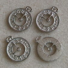 10 Alloy Clock Watch Face Pendant Charms ~ Nickel Free ~ Little Crafty Beaders