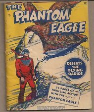 PHANTOM EAGLE DEFEATS THE FLYING RADIOS FAWCETT 1943 MIGHTY MIDGET COMIC #12 VG