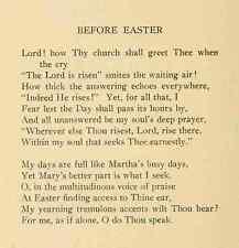 A4 photo bottome George hill un vicaires poèmes 1915 avant Pâques imprimé Poster