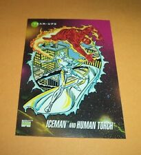 Iceman and Human Torch # 82 1992 Marvel Universe Series 3 Base  Trading Card