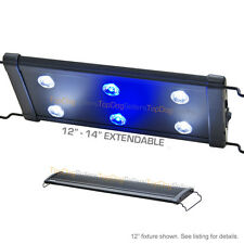 "EVO 12"" LED Aquarium Light Nano Marine Coral Reef Cichlid 6x 3W 3 Watt 30 cm"