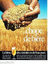 PUBLICITE ADVERTISING 116  1989  la bière des céréales  Chope de bière