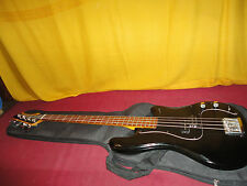 Vintage Black Ovation Ultra Bass Guitar With Gig Bag