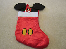 Disney Mickey Mouse stocking mickey ears Christmas holiday new with tags