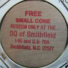 Vintage Dairy Queen Smithfield, NC Wooden Nickel Token - North Carolina #2