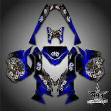 SKI-DOO REV XM SUMMIT SNOWMOBILE SLED GRAPHICS DECAL KIT WRAP OUTLAW COWBOY BLUE