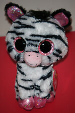 """Ty Beanie Boos ~ IZZY the 6"""" Zebra ~Justice Exclusive~ MINT with MINT TAGS ~RARE"""