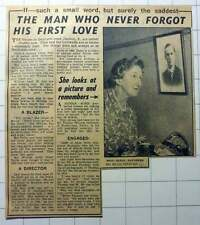 1953 Miss Olive Constance Saunders Could Not Forget Thomas Goldsack