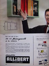 PUBLICITÉ 1959 ALLIBERT ARMOIRE PLASTIQUE - ADVERTISING