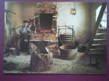 POSTCARD CORNWALL FLAMBARDS VILLAGE - THE FORGE