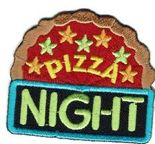 Girl Boy Cub PIZZA NIGHT Party Fun Patches Crests Badges SCOUT GUIDE Day Event