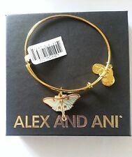 Alex and Ani LUNA Butterfly Bangle Bracelet NWT BOX CARD Gold Finish HTF RARE