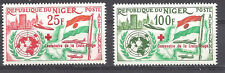 NIGER , RED CROSS , 1963 , 100 YEAR ANNIV. , SET OF 2 ,  PERF , MNH