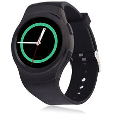 G3 SIM Card Heart Rate Sensor Bluetooth V4.0 Smart Watch for Android IOS Black