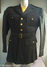 "~GENUINE WWII US ARMY OFFICER'S ""CHOCOLATE"" SERVICE JACKET 39XL COAT MILITARY 44"