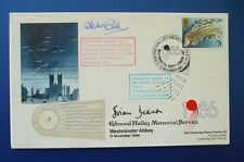 1986 EDMOND HALLEY MEMORIAL SERVICE COVER SIGNED BY BRIAN DEACON