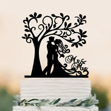arcylic wedding cake topper personalized with Bride Groom in tree cake topper