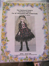 "SWEET LOLITA FRILLY DRESS #SP49 for 16"" dolls *RARE~OOP 2005 clothing pattern"