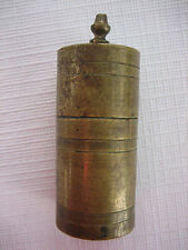 Antique Brass Wax Vestas Vesta Safety Match Light Box - Go to Bed - Lot B