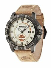 Timberland HARLING Men's Watch Beige Dial Brown Leather Strap 14491JSU/07 Boxed