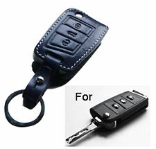 Handmade Premium Italy Leather Smart Remote car Key Fob Case For Volkswagen Golf