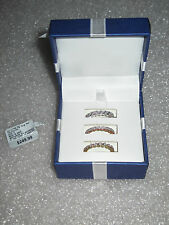 Brand New Set of 3 -  1/4 CTTW Diamond Ring Set Size 8 in Box MSRP $249
